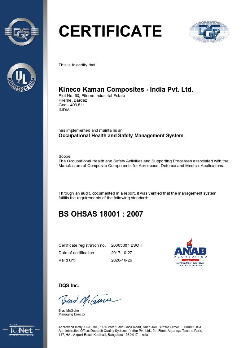 Occupational Health and Safety Management System - BH OHSAS 18001:2007
