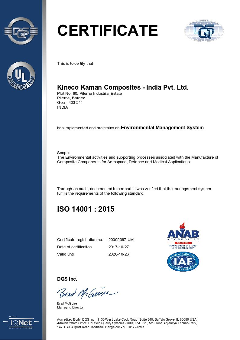 Environmental Management System - ISO 14001:2015
