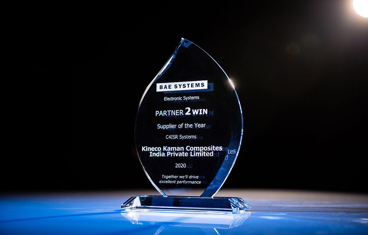 BAE Systems honors Kineco Kaman with Gold Supplier and C4ISR Supplier of the Year award